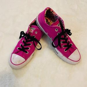 Pink Converse All Star Sneakers Shoes sz 8